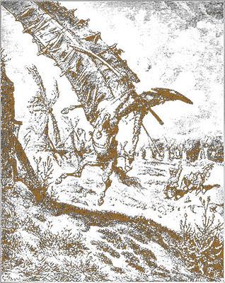 Referência Dom Quixote - Entalhe em cedro 25 x 30 - Ano 1972