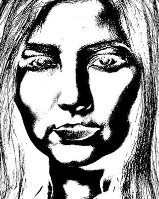 Referência - Lápis e tinta hering para tecido sobre papelão 50 x 80 - Ano 1968