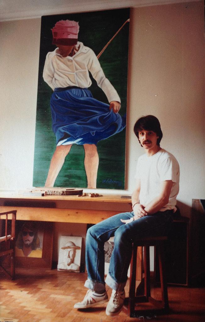 Mario e o quadro de Dona Isa - Ano 1985