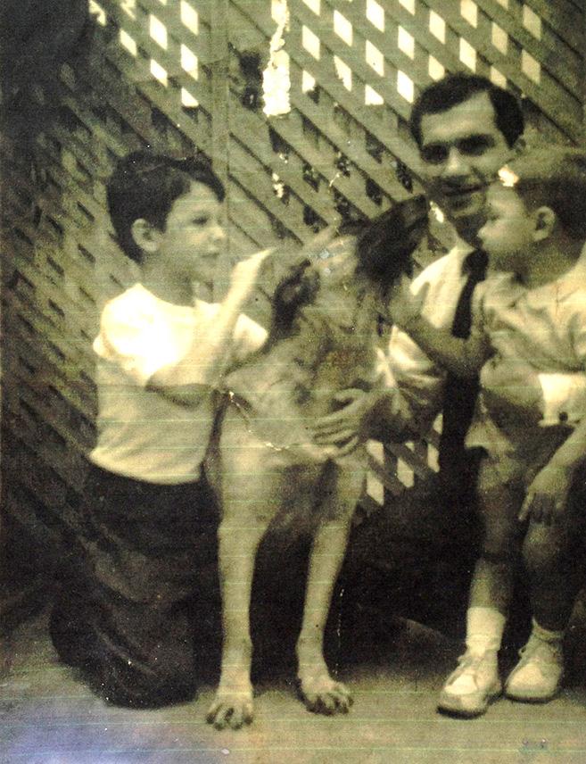 Paolo, Loba, Tio Geovani e Mario - Ano 1960