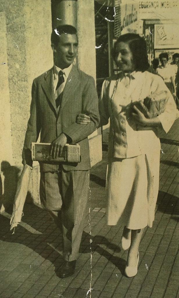 Salvador e Milena em 1950