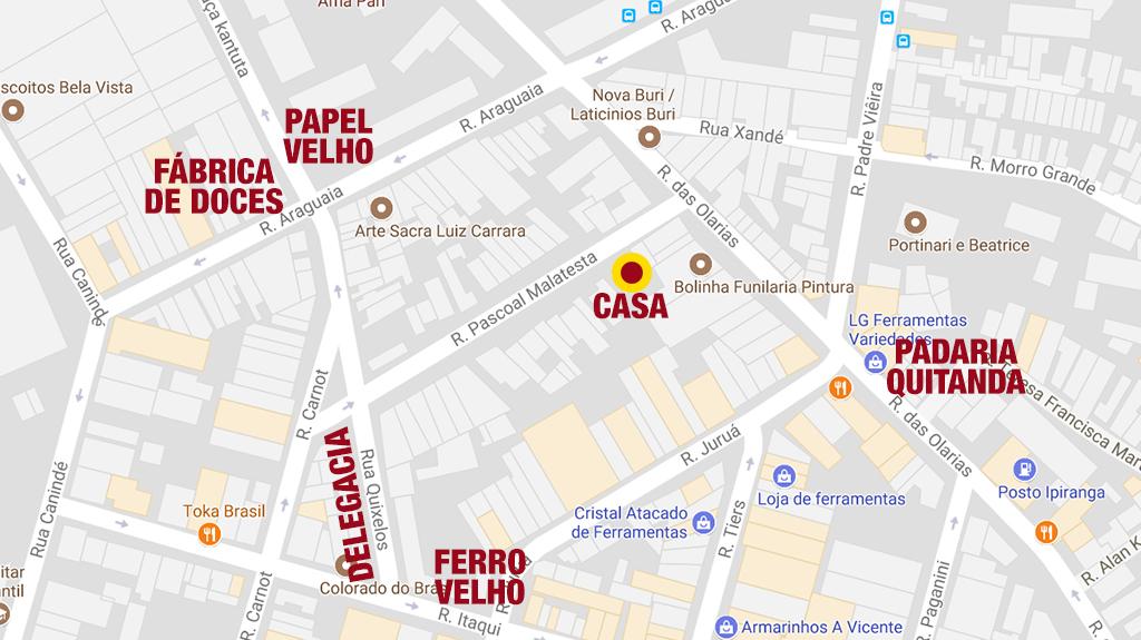 As ruas do bairro, onde nasceu Mario Valdanini e viveu até os 13 anos - Canindé - SP