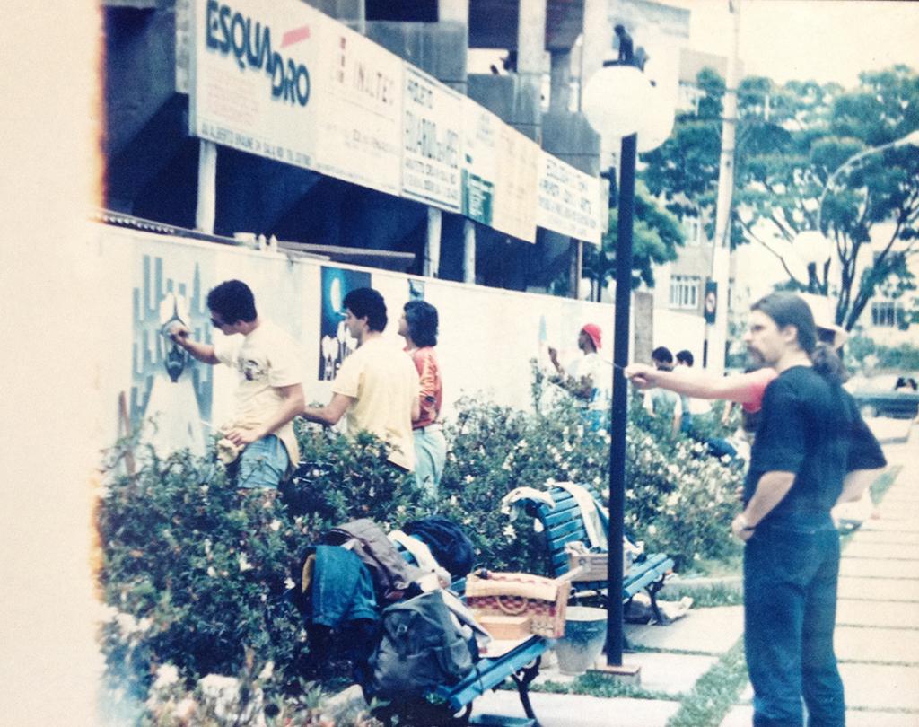 Mural - Praça do Suspiro - ano 1989