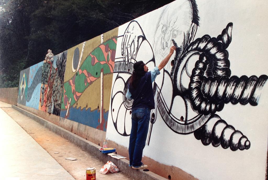 Mural - AV. Euterpe Friburguense - ano 1989